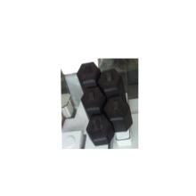 Conjunto de exibição de anel de jóias hexagonal preto pu atacado (hexágono)