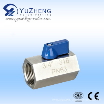 Stainless Steel Mini Ball Valve FF-NPT/BSPT/BSPP Internal Thread