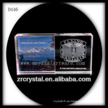 K9 Laser Image Inside Crystal Rectángulo