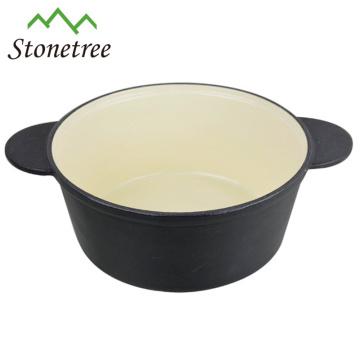 Poêle ronde à mini poêle en fonte à huile végétale