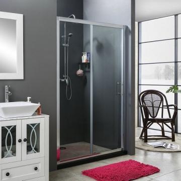Semi-Frameless Sliding Shower Door Clear Glass ShowerRoom