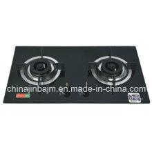 Plaque de cuisson intégrée en verre tempéré à 2 brûleurs
