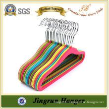 Mutil-color Настраиваемая стильная пластиковая флокирующая вешалка для детей