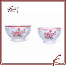 Cuenco de cerámica blanco con calcomanía para promocional