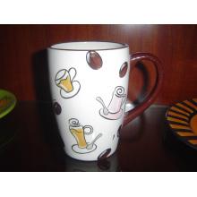Keramische handbemalte Kaffeetasse