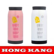 2015 Most popular brown coating paint double wall vacuum flask with tea filter
