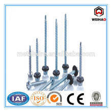 blue zinc-plated Hex Head Self drilling/Tapping screw