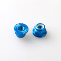 M5 Aluminium Serrated Lock Nut Hex Flange Nut