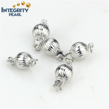 Fashion Necklace Clasp 925 Sterling Silver 7mm Ball Jewelry Clasp Lock
