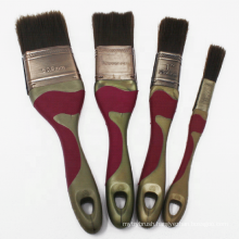 Natural Bristle/Mixed Bristle/Synthetic Fiber Soft Grip Handle Paint Brush Set