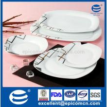 20PC-EX7375 vaisselle décorative en porcelaine en série géométrique avec qualité fine et bon prix