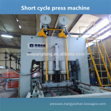 Short cycle melamine laminating hot press machine for wood furniture board