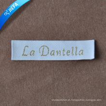 Logomarca da marca cria etiquetas de roupas para etiqueta principal / etiqueta de pescoço