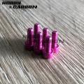 Farbige M3 Aluminium-Innensechskantschrauben