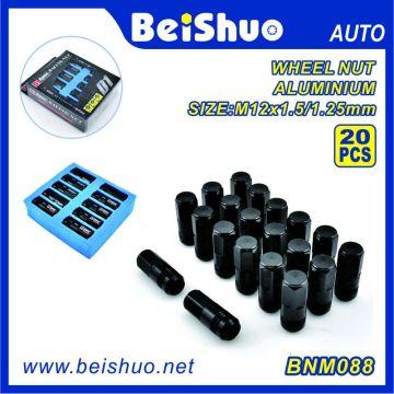 20PCS schwarze Farbe Aluminium D1 Spec Racing Nut