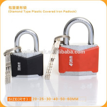 Colorful Diamond Type ABS Shell Plastic Covered Iron Padlock,Rhomb Shaped