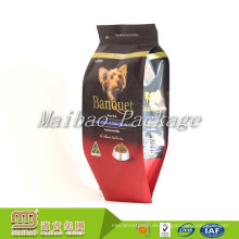 Großhandelsgewohnheits-Entwurf druckte 1Kg 2Kg 5Kg wiederverschließbare Reißverschluss-verpackende Aluminiumfolie-Seiten-Seitenfalten-Haustier-Hundefutter-Taschen