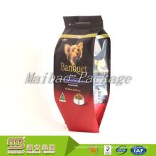 Оптовая нестандартная Конструкция напечатала 1кг 2кг 5кг resealable застежкой-молнией Упаковка алюминиевой фольги стороны Складчатые собака мешки с едой