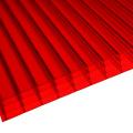 Красный 4 лист стены поликарбоната multiwall (OEM доступный)