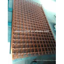 Treillis métallique pour écran vibratoire pour graing et écran pour minéraux, qurry
