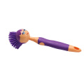 Мягкая чистка Длинная ручка PP в форме куклы Хорошая ручка Блюдо для пятен TPR Щетка для стирки