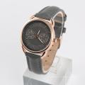Relógio de aço inoxidável homens de ouro rosa relógio 3 mãos relógio de quartzo movimento japonês