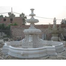Fontaine de marbre en pierre pour décoration de jardin extérieur (SY-F353)