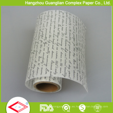Papel de pergamino impreso color siliconado personalizado 1 para cocer al horno