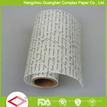 Papel de pergaminho impresso cor feito sob encomenda de Siliconized 1 para cozer