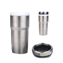Double Wall Stainless Steel Ceramic Mug, Made of Eco-friendly Stoneware Material, Good-quality
