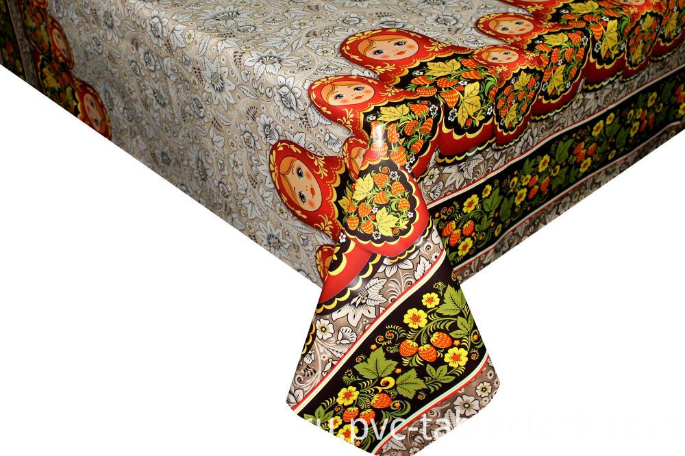Printed Plastic Tablecloth by Roll
