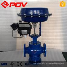 Soupape de commande de pression de débit de vapeur de commande pneumatique de 3 manières