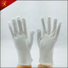 Luvas de algodão branco personalizado de mulheres