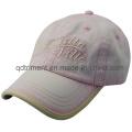 Lavado 100% algodón sarga en blanco Plain Baseball Cap (TRNB020)
