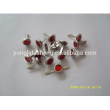 Stamping bag decoration with metal cotter pin