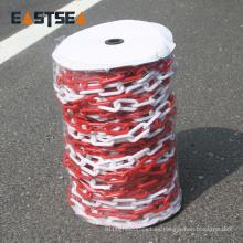 Cadena de plástico coloreado de seguridad de tráfico popular de 6 mm y 8 mm