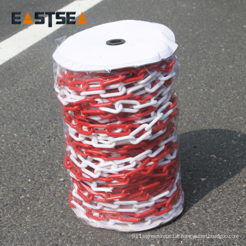 Chaîne en plastique colorée populaire de sécurité du trafic 6mm et 8mm