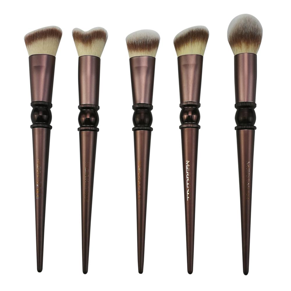 Metal Handle Makeup Brushes