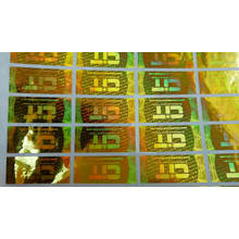 Custom security holographic clothing trademark label tamper proof sticker printing