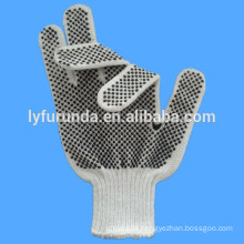 PVC dotted cotton gloves,coated with PVC dots on 2 sides