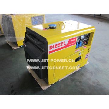 Gerador portátil pequeno de refrigeração ar do gerador 3kw do diesel silencioso