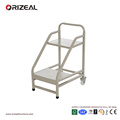 School library furniture steel book trolley library book ladder