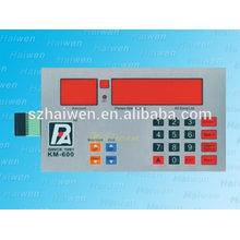 low-cost embossed buttons keypad membrane switch with red window