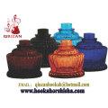 Vase de narguilé chicha verre forme citrouille moyenne