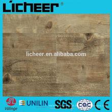 Valinge clique em pisos de vinil OAK pranchas com fibra de vidro / vinil azulejos / piso de vinil em relevo de superfície