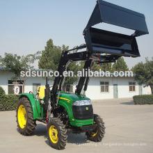 Tracteur à 4 roues motrices avec chargeur à godets 4 en 1, godet combiné sur chargeur de tracteur, chargeur de tracteur agricole avec godet 4 en 1