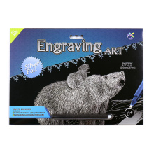 Art Supplies Crafts Scratch Cards Silver Polar Bear