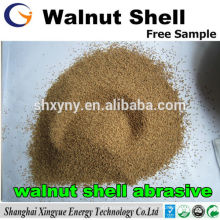 grano de arena de concha de nuez / abrasivo de arena de concha de nuez para pulir con chorro de arena