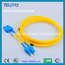 Cordón de remiendo óptico de la fibra, cable de remiendo de la fibra óptica