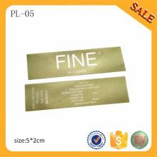 PL05 Profesionalmente la impresión de la fuente de la etiqueta de la ropa / la etiqueta de la impresión del odio